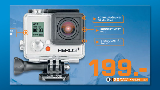 GoPro HERO3+ Silver Edition © Saturn
