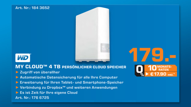 Western Digital My Cloud 4TB © Saturn