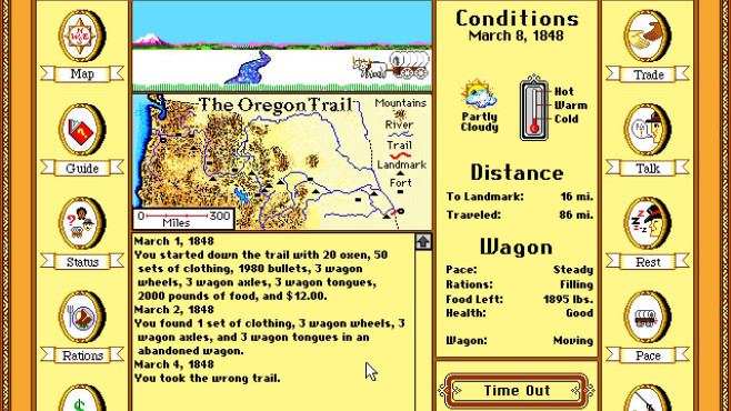 The Oregon Trail Deluxe © MECC