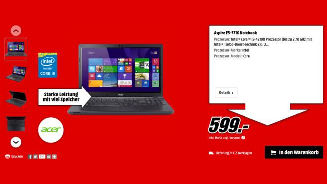 Acer Aspire E5-571G ©Media Markt