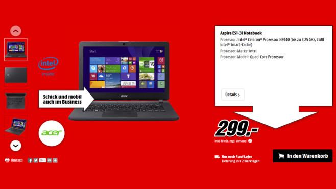 Acer Aspire ES1-31 ©Media Markt