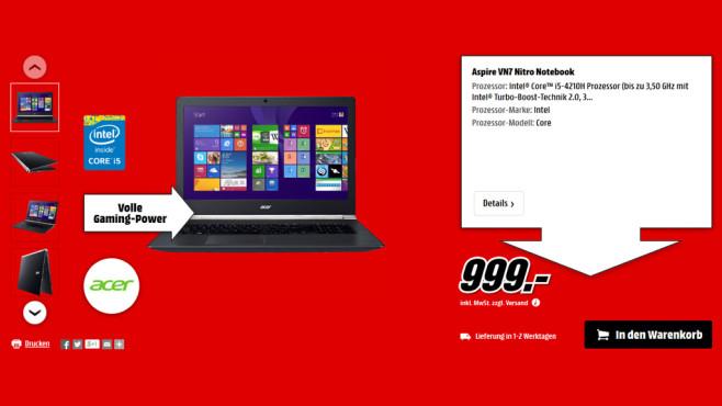 Acer Aspire VN7 ©Media Markt