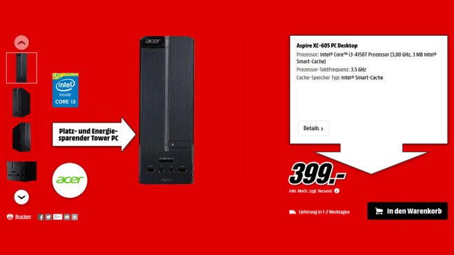 Acer Aspire XC-605 ©Media Markt