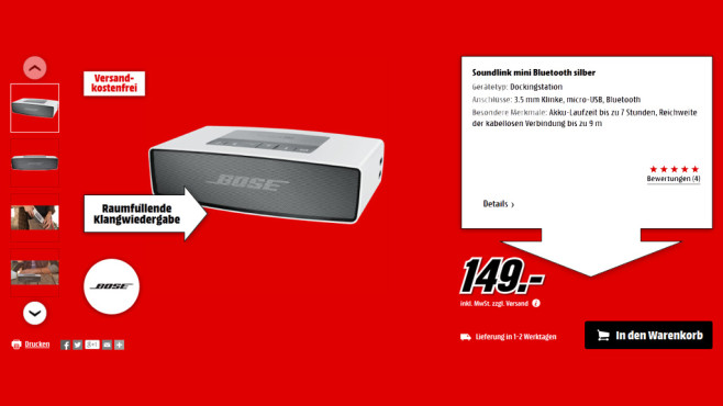 Bose SoundLink Mini © Media Markt