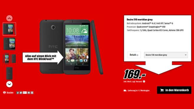 HTC Desire 510 ©Media Markt