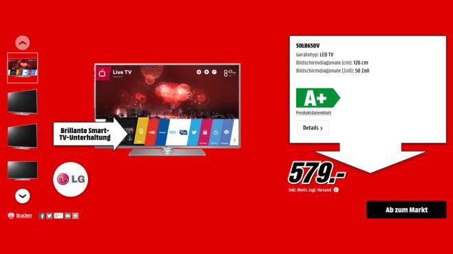 LG 50LB650V ©Media Markt