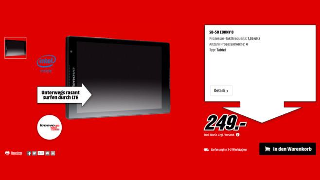 Lenovo Tab S8-50 ©Media Markt
