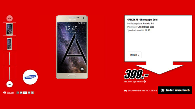 Samsung Galaxy A5 © Media Markt
