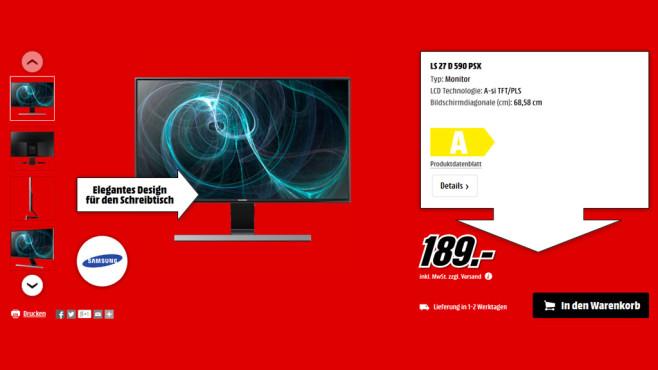 Samsung SyncMaster S27D590PL ©Media Markt