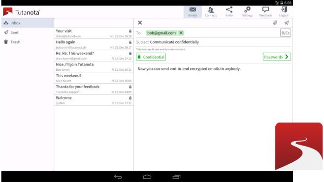 Tutanota einfach sicher mailen ©Tutao GmbH