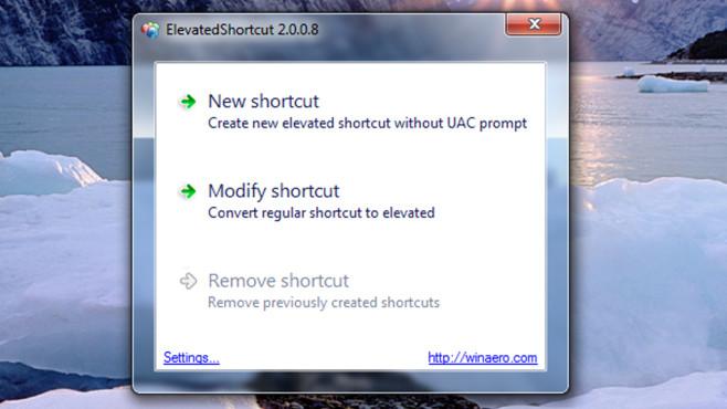 Elevated Shortcut: Programme ohne Warnungen aufrufen ©COMPUTER BILD