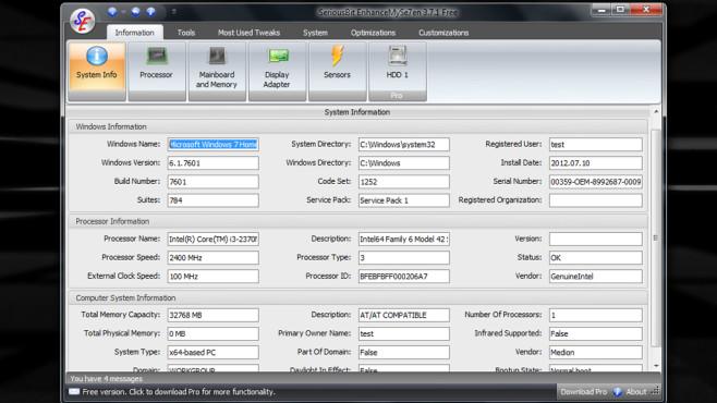 EnhanceMySe7en: Systemeinstellungen anpassen ©COMPUTER BILD