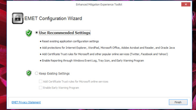 Enhanced Mitigation Experience Toolkit (EMET): Software nachträglich sichern ©COMPUTER BILD