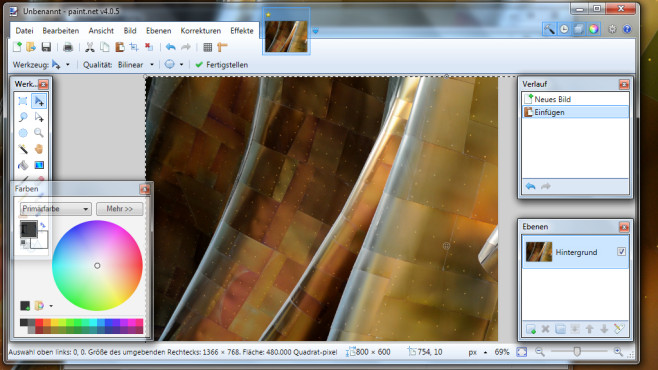 Paint.NET: Angestaubtes Paint ersetzen ©COMPUTER BILD
