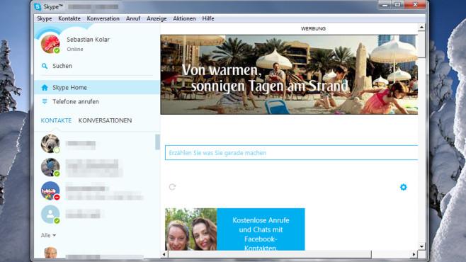 Skype: Chat-Tool für Konversationen ©COMPUTER BILD