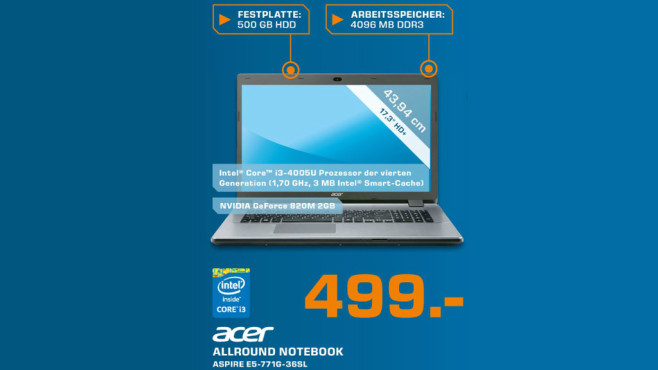 Acer Aspire E5-771G-36SL © Saturn