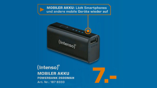 Intenso Powerbank 2600 © Saturn