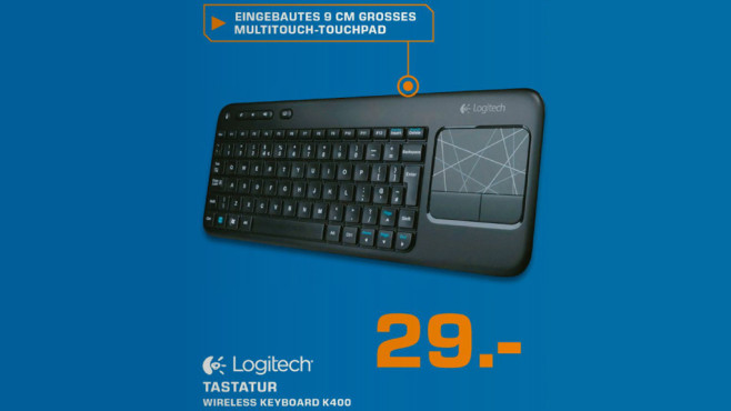 Logitech Wireless Touch Keyboard K400 © Saturn