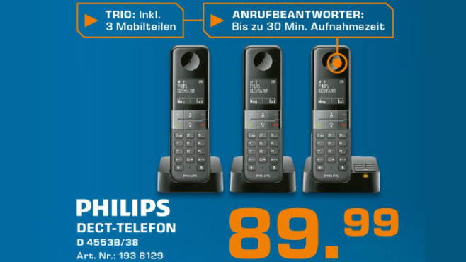 Philips D4553B/38 © Saturn