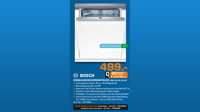 Bosch SMV65N40EU ©Saturn
