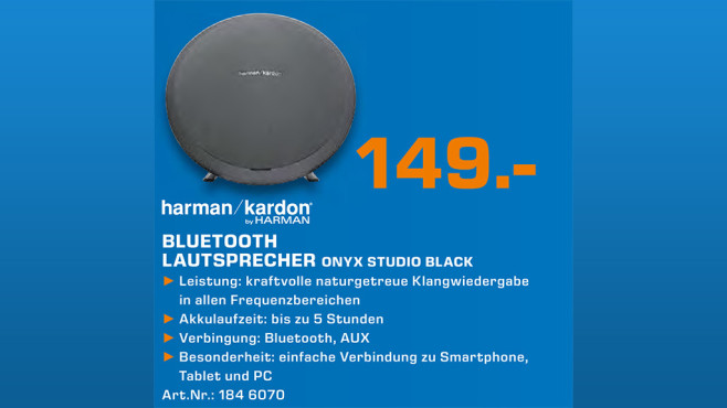 Harman-Kardon Onyx Studio © Saturn