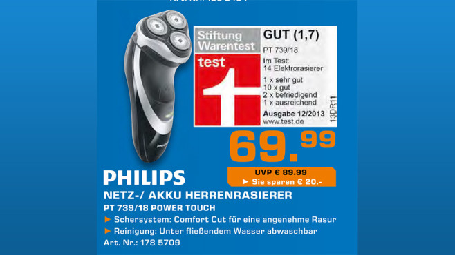 Philips PT739/18 PowerTouch © Saturn