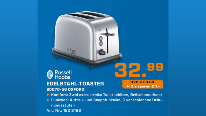 Russell Hobbs Oxford Toaster 20700-56 © Saturn