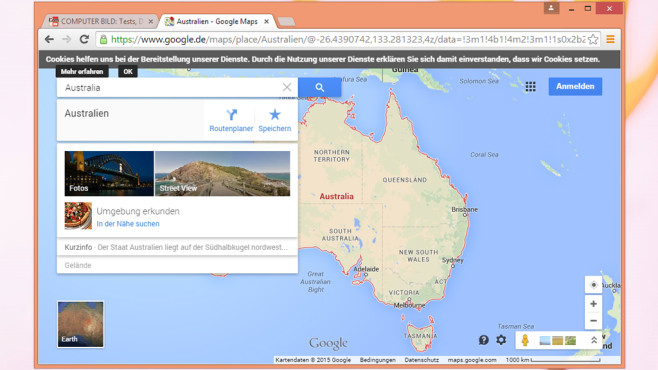 Google Maps: Orientierung behalten ©COMPUTER BILD