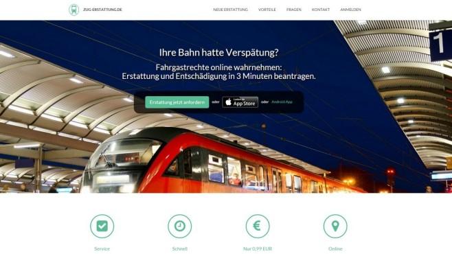 Webseite Zug-Erstattung ©Zug-Erstattung