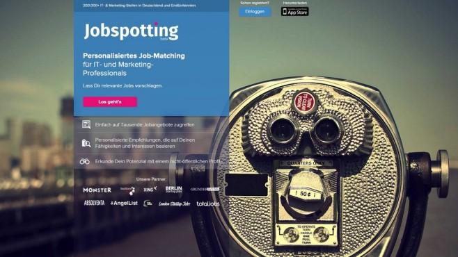 Jobspotting-Webseite ©Jobspotting / COMPUTER BILD