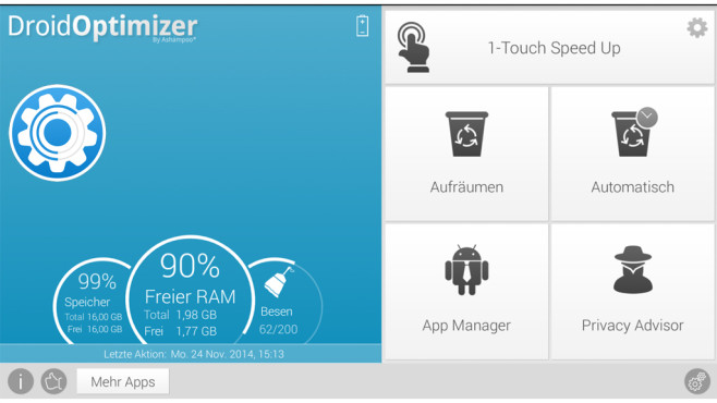 Droid Optimizer © Ashampoo GmbH & Co. KG