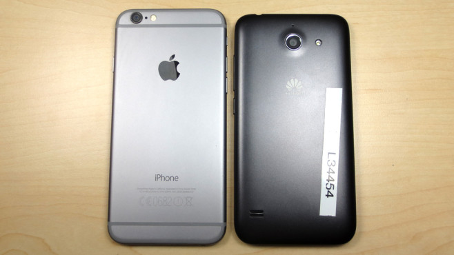 Huawei Ascend Y550 vs. iPhone 6 © COMPUTER BILD