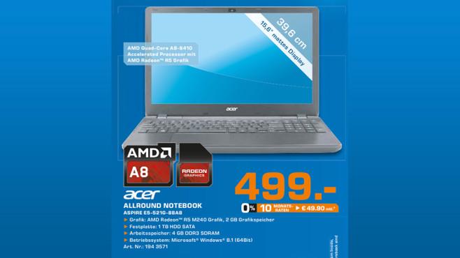Acer Aspire E5-521G 88A8 ©Saturn