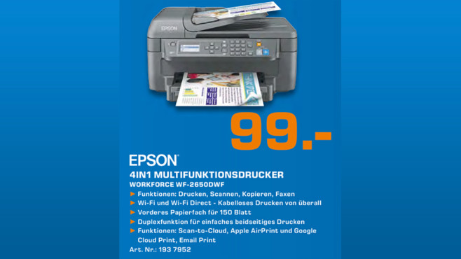 Epson WorkForce WF-2650DWF © Epson