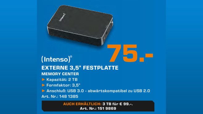 Intenso Memory Center 2TB © Saturn