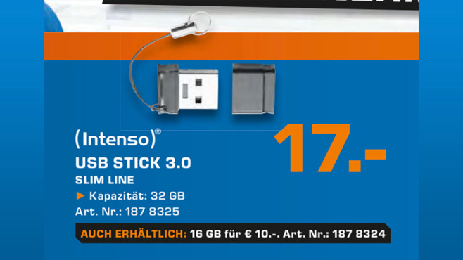 Intenso Slim Line USB 3.0 32GB © Saturn