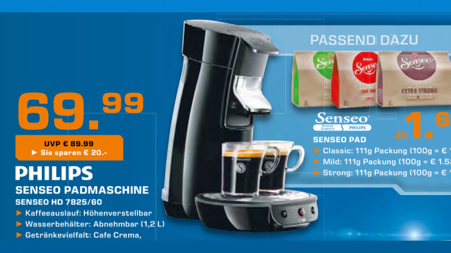 Philips Senseo Viva Café HD 7825/60 © Saturn