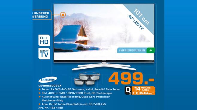 Samsung UE40H6600 ©Saturn