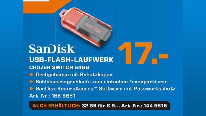 Sandisk Cruzer Switch 64GB © Saturn