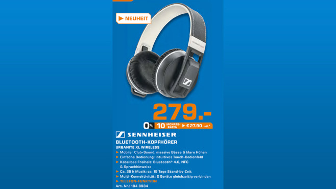 Sennheiser Urbanite XL Wireless © Saturn