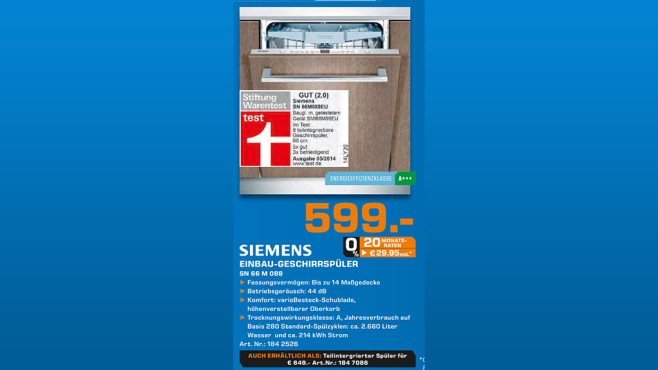 Siemens SN66M088EU ©Saturn