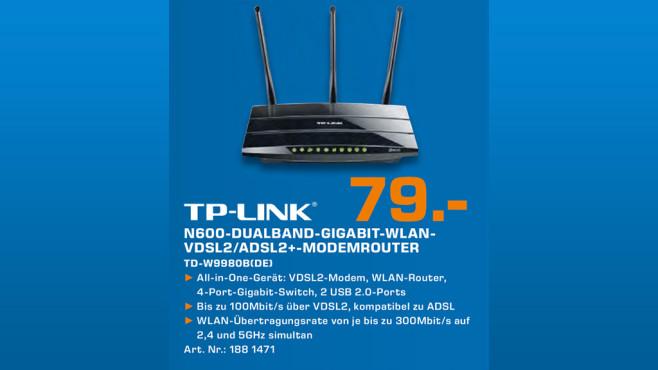 TP-LINK TD-W9980B ©Saturn