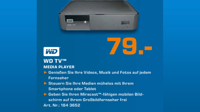 Western Digital WD TV Media Player © Saturn