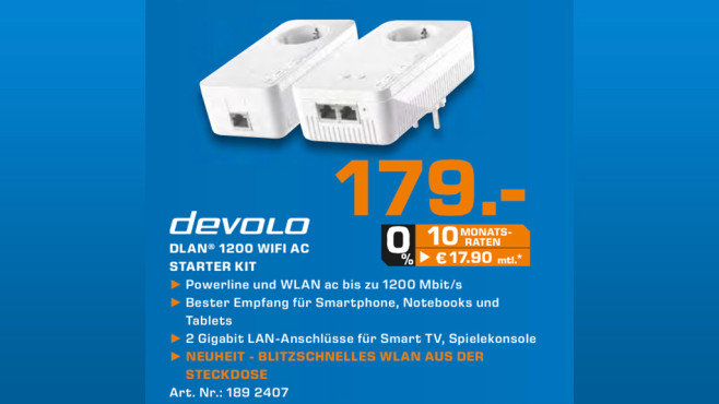 devolo dLAN 1200+ WLAN-AC Starter Kit © Saturn