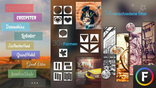 Font Studio – Texte auf Photos © RC PLATFORM