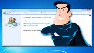 System optimal ausreizen: Top-Tipps zu Windows 7, 8 und 8.1 Eine kleine Anpassung genügt und Windows-Benutzerkonten setzen sich von selbst zurück. ©win7-superuser-benchart---Fotolia.com