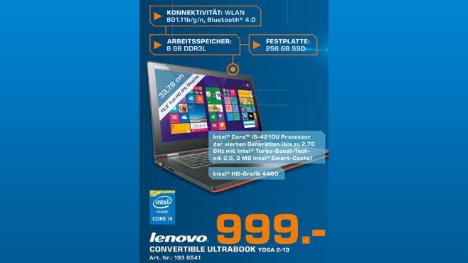 Lenovo IdeaPad Yoga 2 13 © Saturn