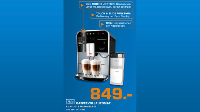 Melitta Caffeo Barista T F 730-101 ©Saturn