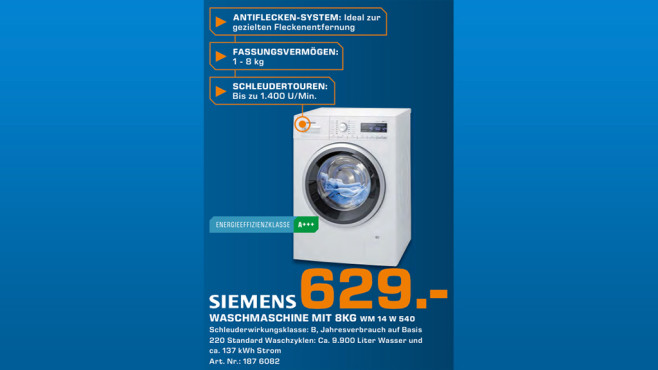 Siemens WM14W540 © Saturn