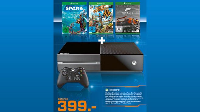 Xbox One inkl. 3 Spiele ©Saturn